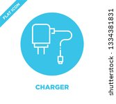 charger icon vector. thin line... | Shutterstock .eps vector #1334381831