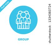 group icon vector. thin line... | Shutterstock .eps vector #1334383724