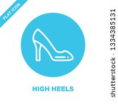 high heels icon vector. thin... | Shutterstock .eps vector #1334385131
