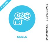skills icon vector. thin line... | Shutterstock .eps vector #1334388911