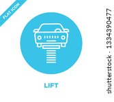 lift icon vector. thin line... | Shutterstock .eps vector #1334390477