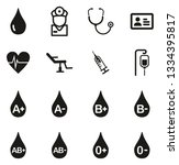 blood donation or blood type... | Shutterstock .eps vector #1334395817
