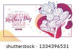 modern template design for mom... | Shutterstock .eps vector #1334396531