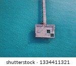 maldives pier on tropical beach ... | Shutterstock . vector #1334411321