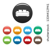 relax sofa icons set 9 color... | Shutterstock . vector #1334412941