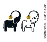 elephant shaped piggy banks... | Shutterstock .eps vector #1334416904