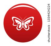 unusual butterfly icon. simple... | Shutterstock . vector #1334424224