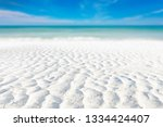 white sand curve or tropical... | Shutterstock . vector #1334424407