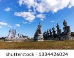 vesak day concept big buddha... | Shutterstock . vector #1334426024