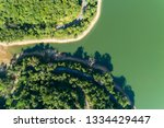 top down from drone aerial view ... | Shutterstock . vector #1334429447