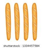 french baguette bread. fresh... | Shutterstock .eps vector #1334457584