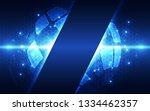 abstract futuristic digital... | Shutterstock .eps vector #1334462357