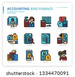 accounting and finance icon set | Shutterstock .eps vector #1334470091