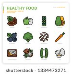 healthyfood icon set | Shutterstock .eps vector #1334473271