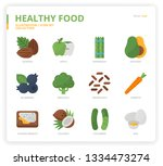 healthyfood icon set | Shutterstock .eps vector #1334473274