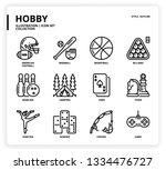 hobby icon set | Shutterstock .eps vector #1334476727