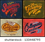 retro illustration typography t ... | Shutterstock .eps vector #133448795