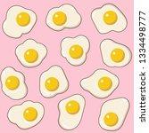 cartoon fried eggs seamless... | Shutterstock .eps vector #1334498777