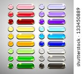 set of blank web buttons for... | Shutterstock .eps vector #133450889