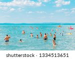 balaton  hungary   july 14 ...   Shutterstock . vector #1334513651