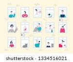 vector neighbors looking out... | Shutterstock .eps vector #1334516021