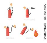 instructions for use of a fire... | Shutterstock .eps vector #1334516027