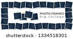 vector photo frames with white...   Shutterstock .eps vector #1334518301