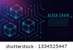 abstract blockchain isometric... | Shutterstock .eps vector #1334525447