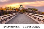 osaka castle and bridge  osaka...   Shutterstock . vector #1334530007