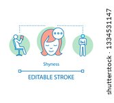 shyness concept icon.... | Shutterstock .eps vector #1334531147