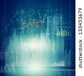 abstract high tech background... | Shutterstock . vector #133453679