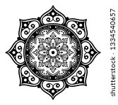 mandala for coloring book | Shutterstock .eps vector #1334540657
