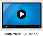 video player for web ... | Shutterstock .eps vector #133454477