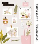 inspiration spring mood board.... | Shutterstock .eps vector #1334550851
