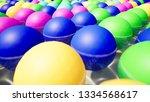 color spheres 3d render