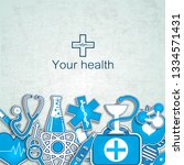 your health textured background ... | Shutterstock .eps vector #1334571431