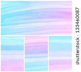 set of colorful abstract water... | Shutterstock . vector #133460087