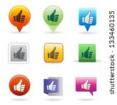 thumb up | Shutterstock .eps vector #133460135