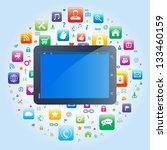 tablet app concept | Shutterstock .eps vector #133460159