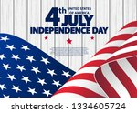 happy 4th of july usa... | Shutterstock .eps vector #1334605724