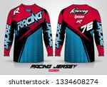 long sleeve t shirt design... | Shutterstock .eps vector #1334608274