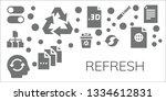 refresh icon set. 11 filled... | Shutterstock .eps vector #1334612831