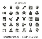 ui icon set. 30 filled ui icons....