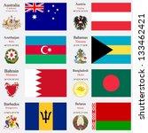 world flags of australia ... | Shutterstock .eps vector #133462421
