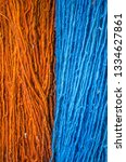 multicolored woolen threads... | Shutterstock . vector #1334627861