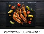 Barbeque Grilled Prawns With...