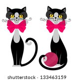 cats with clew | Shutterstock .eps vector #133463159