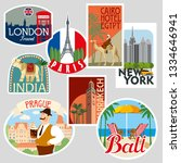 Set Of Travel Stickers. Cities...