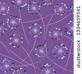 cute dandelion blowing vector... | Shutterstock .eps vector #1334659541