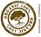 organic 100  grunge stamp  in...   Shutterstock . vector #133466411